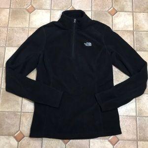 North face black pullover light fleece sweater S